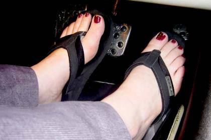 Flip Flops While Driving